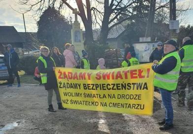 Protest zakończony sukcesem mieszkańców Woli Mrokowskiej