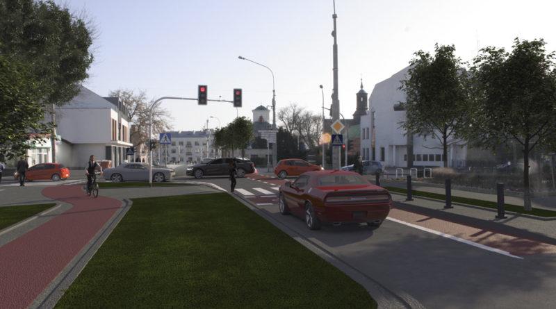 Bezpieczne drogi dla rowerzystów w centrum Piaseczna