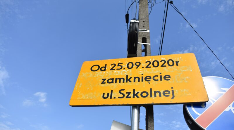 Od 25 września zostanie zamknięta ulica Szkolna w Lesznowoli