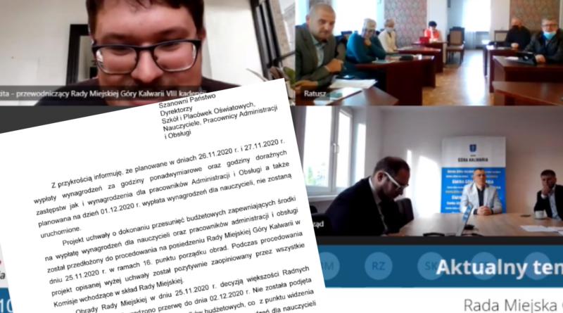 Wypłata nadgodzin dla nauczycieli i pracowników administracji opóźniona o 7 dni…
